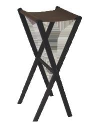 Pose plateau pliant en bois MARS dessus cuir