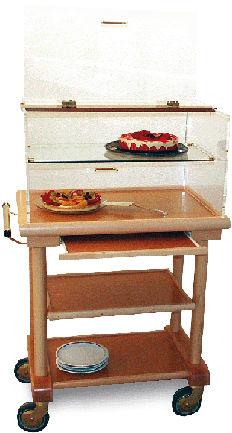 Table à fromages et desserts petit modèle avec étagère DESPINA