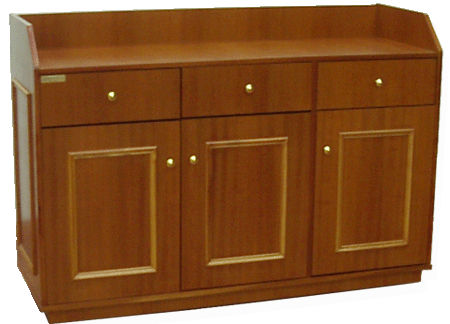 Desserte basse NABICA MAXIMUS placage bois 3 portes 3 tiroirs