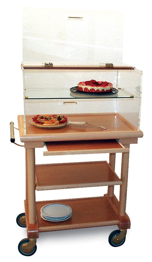 Table à fromages et desserts petit modèle avec étagère GALATEE