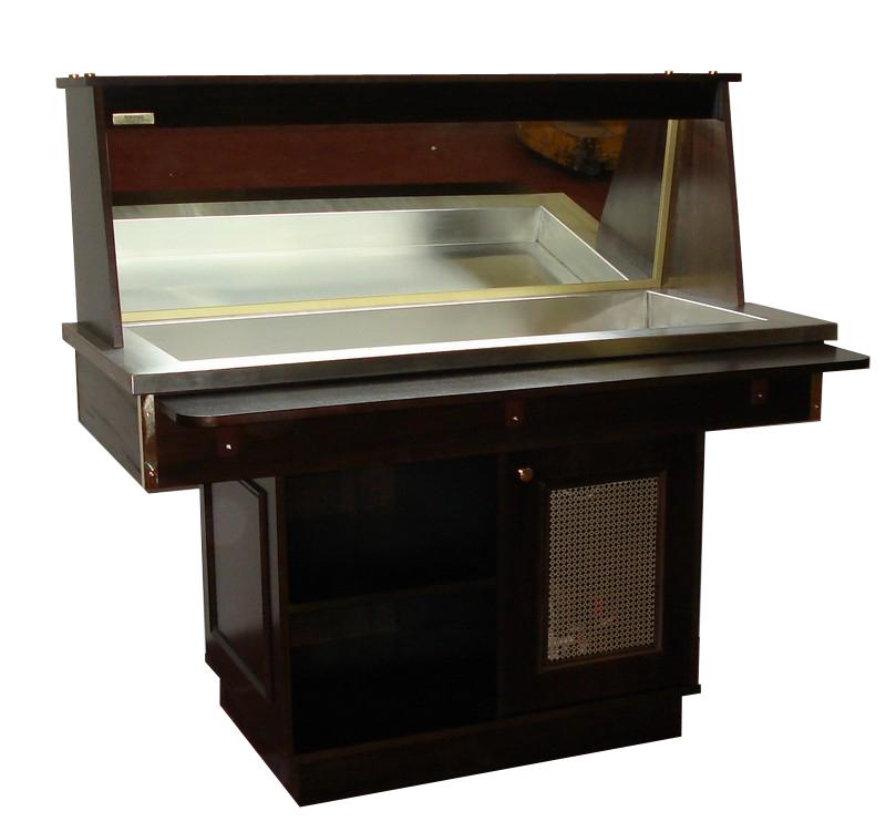 Buffet de présentation réfrigéré par compresseur KALOMA 700 avec miroir